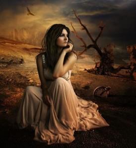 clock,desert,fairy,tale,girl,waiting,woman-4f8c79dca98031853cbd832bc8557c69_h_large