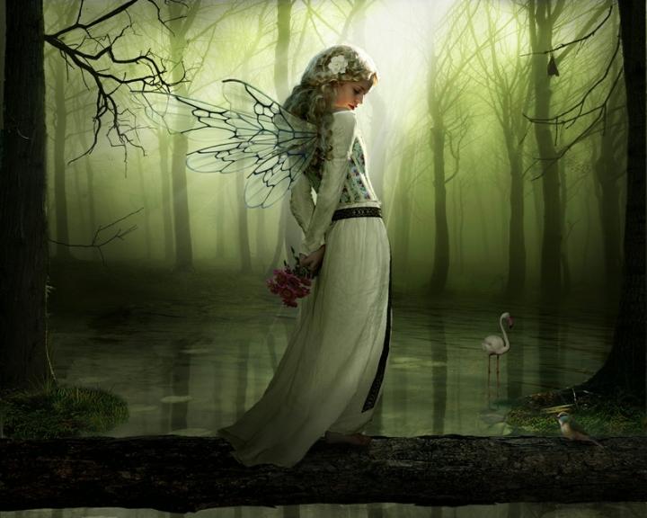 blondes women fantasy wings forest flower in hair 1280x1024 wallpaper_www.wallmay.net_49
