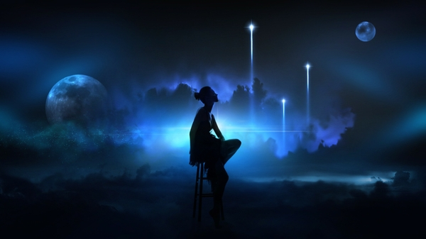 women clouds lights moon silhouette fantasy art artwork sitting space art stool 1920x1080 wallpap_www.wall321.com_29